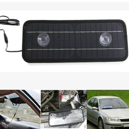 Wholesale 12v Lighter - Wholesale- 2016 New Hot Environmentally Car Solar Panel 4.5W 12V Solar Panel Car Lighter Charger Camping Hking Supplies for Universal Car