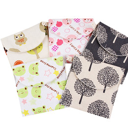 Wholesale Package Diaper - Wholesale- AOTIA New Casual Candy Color Bags Girl Cotton Diaper Sanitary Napkin Package Bag Storage Organizer Makeup Bag Gift Free Shipping