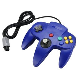Wholesale Games For Nintendo - 2 Pieces LOT High Quality Hot Wired Game Wired Joystick Controller Gamepad For Nintendo For N64 System Retro Classic Design