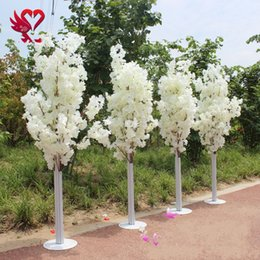 Wholesale Led Artificial Tree Wholesale - 1.5M 5feet Height white Artificial Cherry Blossom Tree Roman Column Road Leads For Wedding Mall Opened Props