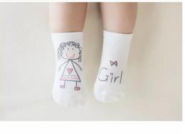 Wholesale Cute Socks For Kids - Baby Boys Girls Cute Scrawl Cartoon Socks Soft Cotton Suitable Kids Children Toddler Lovely Socks For Infant Baby C001