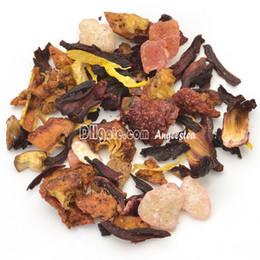 Commercio all'ingrosso 100g tè alla frutta dolce pesca con rosella, mela, pesca, organge buccia e crisantemo, spedizione gratuita da