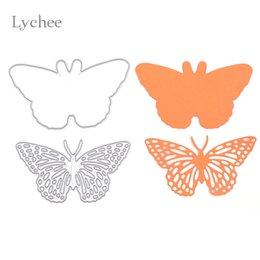 Wholesale Paper Crafts Templates - 1 Set Butterfly Frame Metal Scrapbooking Die Cuts Craft Decorative Embossing Folder Cutting Dies Stencils Paper Cards Template