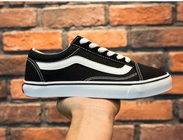 Wholesale Casual Toe Shoes For Women - 2017 Size 35-45 old skool Canvas Men women casual shoes sneakers Unisex Brand shoes casual Flats for men women zapatillas trainers Van