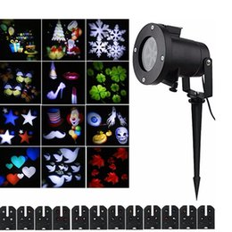 Wholesale Night Laser Projector - Christmas Projector Laser Light 12 Replaceable Lens Colorful Patterns Night Light Wedding Fairy Garden Lawn Lamp Landscape