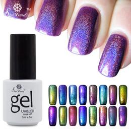 Wholesale Chameleon Nail Gel - Wholesale-Saviland 1pcs Gel Nail Chameleon Paint Nail Glue Color Uv Gel Permanentes Lacquer Varnishes Esmaltes Magnetic Primer