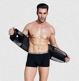 Wholesale Muscle Belly - Man lose weight belt abdomen beer belly girdle men's inner muscle belt for slimming waist tummy shaper Corset Slimming Cummerbunds male