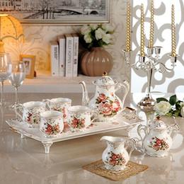 Faça porcelana on-line-Porcelana branca jogo de café com jogo de chá chá pote fontes do casamento outros favores do casamento Made in china