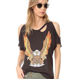 Wholesale Oversized Womens Shirts - Strapless Punk Simple Black Top Women Summer Oversized Fashion Round Neck Tshirt Camiseta Novelty Shirts Womens Clothing 60D0083
