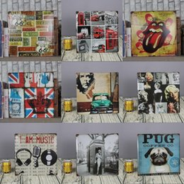 Wholesale Animal House Poster - wholesale 30x30cm rock music UK THEME metal painting for bar pub house wall decor tin sign vintage poster signs plaques