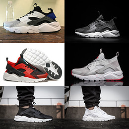 Wholesale Football Shoes Sale - 2017 Air Huarache 4 Ultra Black White red Huarache Shoes Men Women Lightweight Huarache Sneakers Running Shoes eur 36-45 high quality sale
