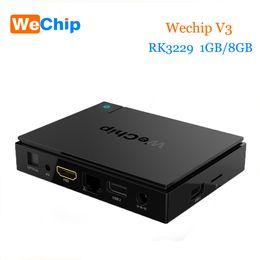 Wholesale Original Media Player - Original WeChip V3 android tv box KDPlayer 16.1 6.0 OS RK3229 Quad Core frequency:1.5G 1GB 8GB Wifi Media Player