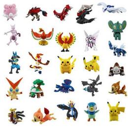 Wholesale Action Figure Design - Action Figures Cartoon 2-3CM Designs Mini Poke Anime Action Figures Toys Best Gifts for Children DHL Free