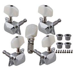 Wholesale Guitar Parts Pegs - Set Semiclosed Banjo Machine Head Tuning Tuner Peg w  Bushing Guitar Parts