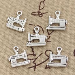 Wholesale Sewing Machine Silver Charms - Wholesale- 99Cents 8pcs Charms sewing machine 15*15mm Antique Making pendant fit,Vintage Tibetan Silver,DIY bracelet necklace