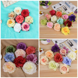 Wholesale Simulation Artificial Flower Camellia Rose - 1 43wj Simulation Towel Flower Heads DIY Artificial Silk Camellia Rose Fake Peony Flowers Head For Wedding Decorative R