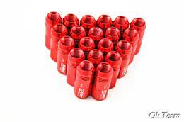 Wholesale Racing Lug Nuts - Free shipping 20pcs JDM D1 Spec M12 x 1.5 Car Auto Racing Lug Wheel Nuts Screw Red Aluminum Universal d1 spec