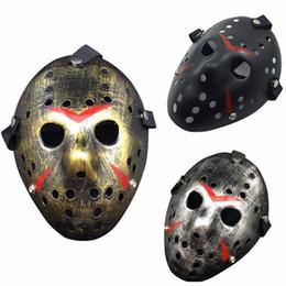 Wholesale Masquerade Mask Killer - Jason vs Friday The 13th Horror Hockey Cosplay Costume Halloween Killer Masquerade Ball Mask Scary Lace Mask Anonymou Masks