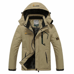 Wholesale Beige Down Coat Women - Wholesale- Winter women Men Down Parka Jacket men`s Fashion Hooded Thick Warm Outwear Waterproof Windproof Overcoat Wadded Coat size M~6XL