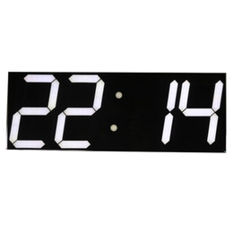 Wholesale Digital Alarm Wall Clock - Wholesale- Free shipping Large Digital Wall Clock LED Display Remote Control Countdown Alarm Clock Stopwatch Modern Design Big