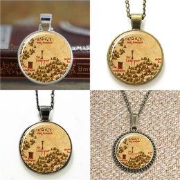 Wholesale Western Necklaces - 10pcs The Western Woods The Lamp-post Narnia Map glass Necklace keyring bookmark cufflink earring bracelet