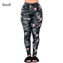 Wholesale Stretch Fitness Pants Women - Camouflage Print Workout Leggings Summer High Waist Stretch Fitness Legging Spandex Long Pants Women Leggings Activewear 17411