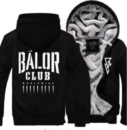 Wholesale Roman Letter - Mens Hoodie Winter Fashion Thicken Tops Wrestling Finn Balor Club Roman Reigns No One Is Safe Seth Rollins Dean Ambrose Zipper Coats