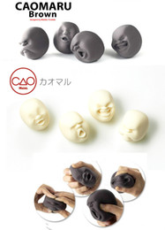 Wholesale caomaru face stress ball - Vent Human Face Ball Anti-stress Ball Cao Maru Caomaru Adult Kids Funny Decompression stress Toy Gift XT