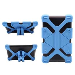 Wholesale Galaxy Tablet Mini - Universal Silicone Tablet Case Protective Stand Cover Bumper Frame For iPad mini pro Samsung galaxy tab LG Tablet Asus OppBag