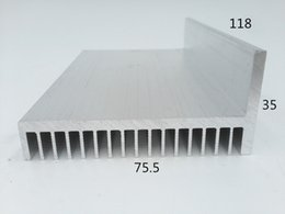 Wholesale Custom Sinks - Customized new design aluminium heatsink flat Aluminum profile custom flexible heat sink to led 75.5*35-118 aluminium heat sink