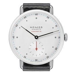 Wholesale Man Watch Army Style - New NOMOS Bauhaus style men's high-grade two-pin half-belt quartz watch Luxury Brand Date Men Casual Watch Army Military Sports Men Watches