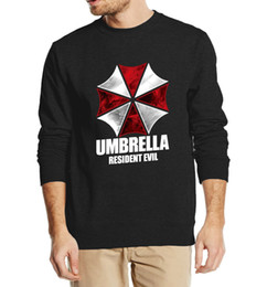Wholesale High Fashion Umbrella - Wholesale-Resident Evil Umbrella autumn winter men sweatshirt 2016 new fashion hoodies cool streetwear fleece high quality brand clothing