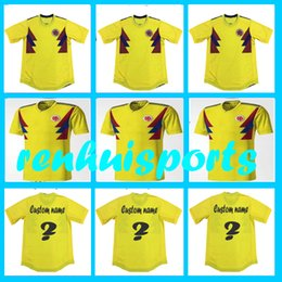 Wholesale First Homes - Rugby 2017 2018 Colombia Jerseys Home yellow James Falcao Guarin Bacca Borja 17 18 Rugby Jersey First quality 10 or more free to send DHL