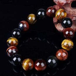 Wholesale Trendy Unique Wholesale Jewelry - Wholesale- Unique 10mm New Tiger Eye Elegant Collar Gifts Buddha Bracelets Trendy Natural Stone Jewelry for Women Men