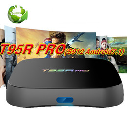 Wholesale Blackbox Hdmi - 10PCS T95Rpro 2GB Bluetooth 8GB Android7.1 Marshmallow IPTV TV boxes 4K Ares Spinz Appolo Blackbox S912 Octa core 2.4G 5G WIFI T95R
