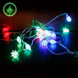 Wholesale Tree Ornament Light - 500cm*28lamp Christmas tree ornament Christmas craft led multi-colored lights string Christmas festival red color l hexagonal lamp string