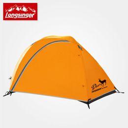 Wholesale Double Layer Tents - Longsinger elizabethans double layer aluminum rod outdoor camping hiking tent ultra-light rain