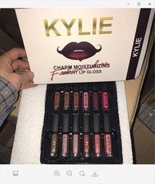 Wholesale Bright Charms - In Stock Kylie Charm Moisturizing Bright Lip Gloss Matte Lipstick kylie 12 colors lip gloss fast and free shipping
