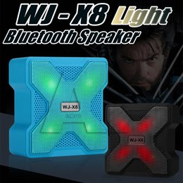 Wholesale Play Rides - Bluetooth Mini Speakers WJ-X8 LED USB Wireless Speaker Support TF Card Light 6 Hours Long Play 1200 mAH Battery Subwoofers