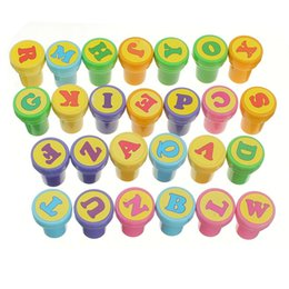 Wholesale Rubber Stamps Sets For Kids - Wholesale-26Pcs Funny Cartoon Rubber Stamps 26 Letters Self Inking Rubber Stamps Set for Scrapbooking Decor Arts Gifs Toys for kid