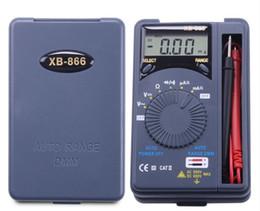 Wholesale Pocket Digital Mini Auto Range - XB-866 Auto Range LCD Mini Voltmeter Tester Tool AC DC Pocket Digital Multimeter