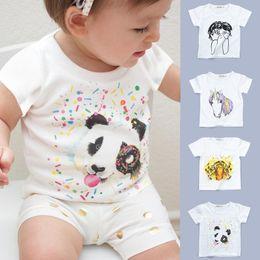 Wholesale Clothing Fashion Boy Kid - Kids Tshirt Cartoon Fashion Girls Boys Tops Baby Clothes Summer T Shirt Children Clothing Animal Print T-shirt