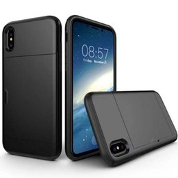 Wholesale Iphone Tpu Id Cases - For Samsung Note 8 S8 Plus SGP Card Slot Case For Iphone X 8 7 6 Plus ID Card Wallet Case Hybrid 2 in 1 Dual Layer Protector Cover OPPBAG