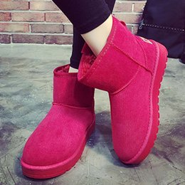 Wholesale Ladies Rubber Boots Designs - Wholesale-2016 Brand Design Women Shoes Fashion Snow Boots Slip-On Flat Platform Snow boots Autumn Winter Warm Shoes Ladies Ankle Boots
