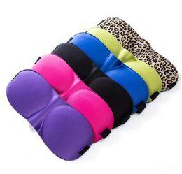 Wholesale Travel Rest - Fashion 3D Sleep Rest Travel Eye Mask Sponge Cover Blindfold Shade Eyeshade Sleep Masks 20 pcs free shipping