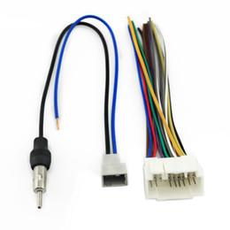 Wholesale Audio Harness - LEEWA Car Audio Stereo Head Unit Harness With Radio Antenna Adapter Cable For Honda Acura Mazda Suzuki #1577