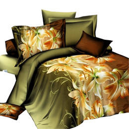 Wholesale Tiger Print Bedding Queen - Wholesale-tiger leopard 3d bedding set HD bed linen bedding set family set home quilt cover bed sheets pillowcases fashion Queen size