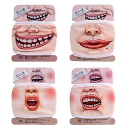 Wholesale Cotton Expression - New Design Novelty Cute 3D Funny Expression Cotton Mouth Face Mask Health Cycling Respirator Warm Free Shipping