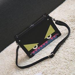 Wholesale Purple Christmas Stockings - Wholesale Cute little monster shoulder bag in stock Monster box bag fashion designer messager bags fashion handbags