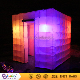 Wholesale Photo Booth Tent - Wholesale- Free Shipping Party Decoration Two Doors Oxford Nylon cloth Inflatable Portable Photo Booth Tent for toy tents
